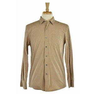 Club Monaco Button Down Shirt SM Brown